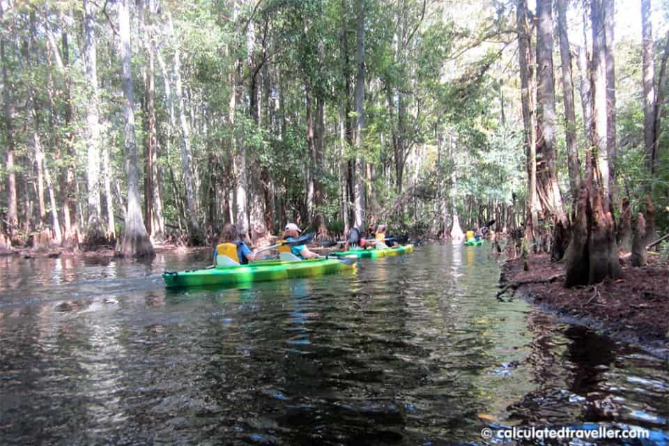 Kayak Shingle Creek Regional Park in Kissimmee Florida