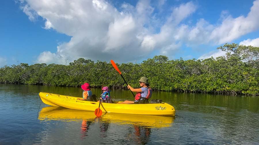 Kayak in John Pennekamp Coral Reef State Park in the Florida Keys