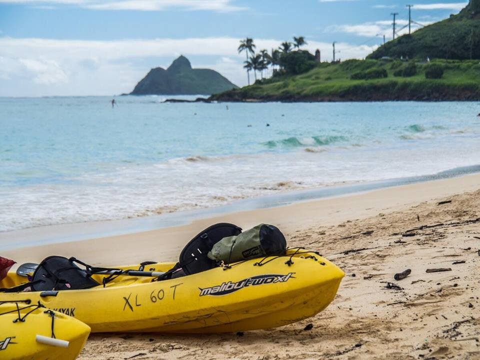 Kayak on Oahu, Hawaii